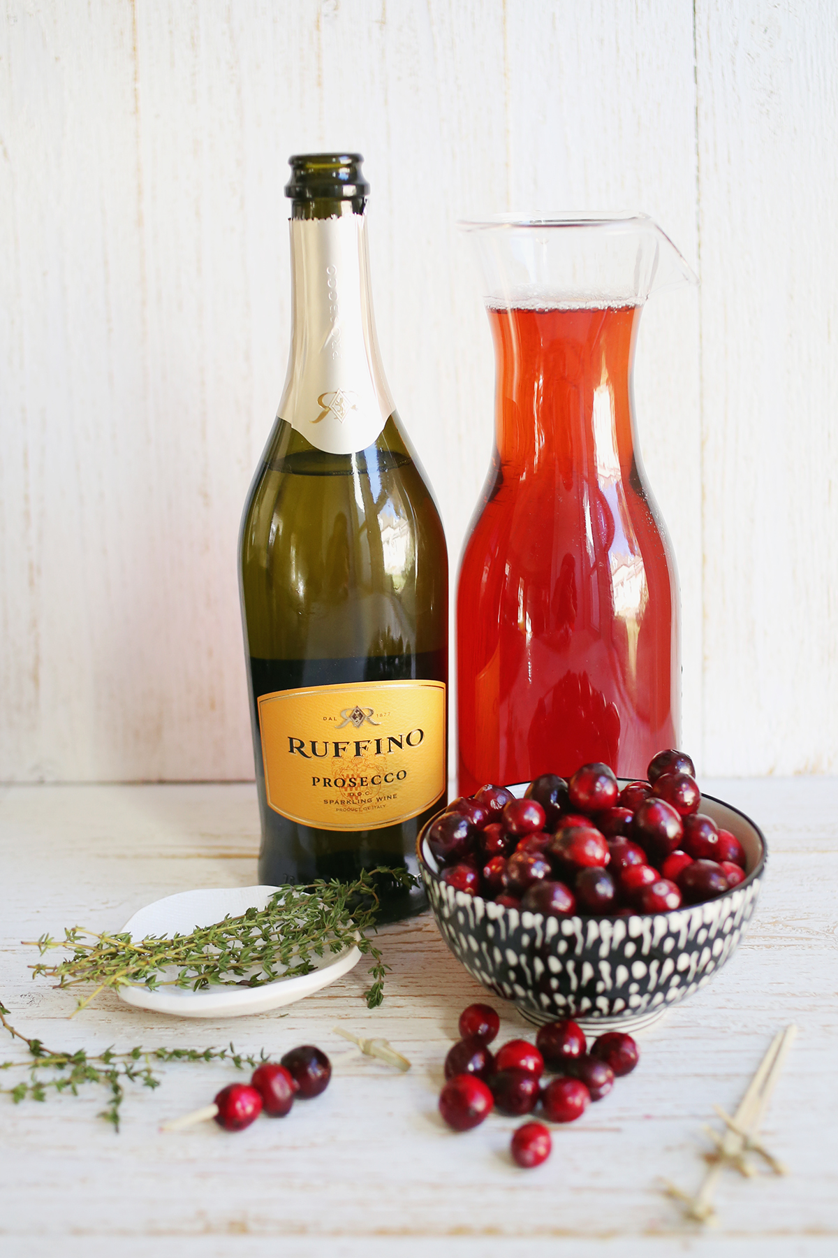 Prosecco and Cranberry Mimosas