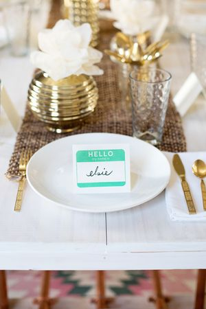 Try This: Stamped Name Tag Place Cards