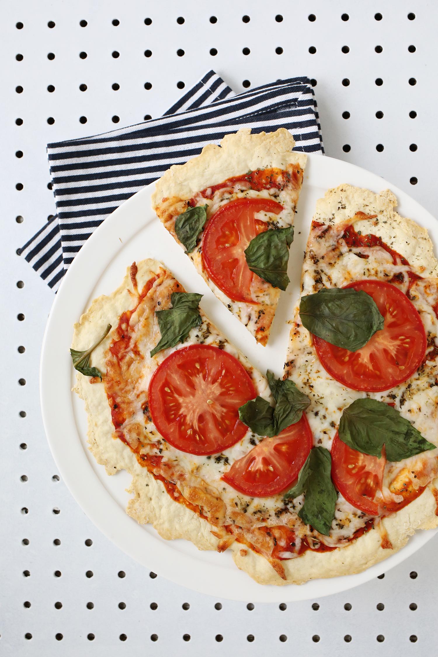 Thin Crust Pizza Dough (Yeast-Free!) - A Beautiful Mess