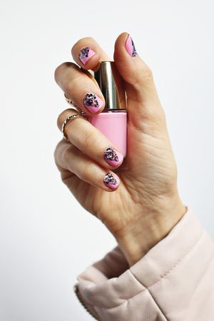 Use Nail Wraps to Create a Geometric Nail Design