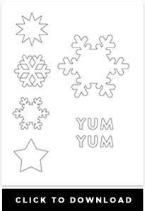 downloadable snowflake template