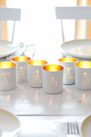 Tin Punched Votive Candles