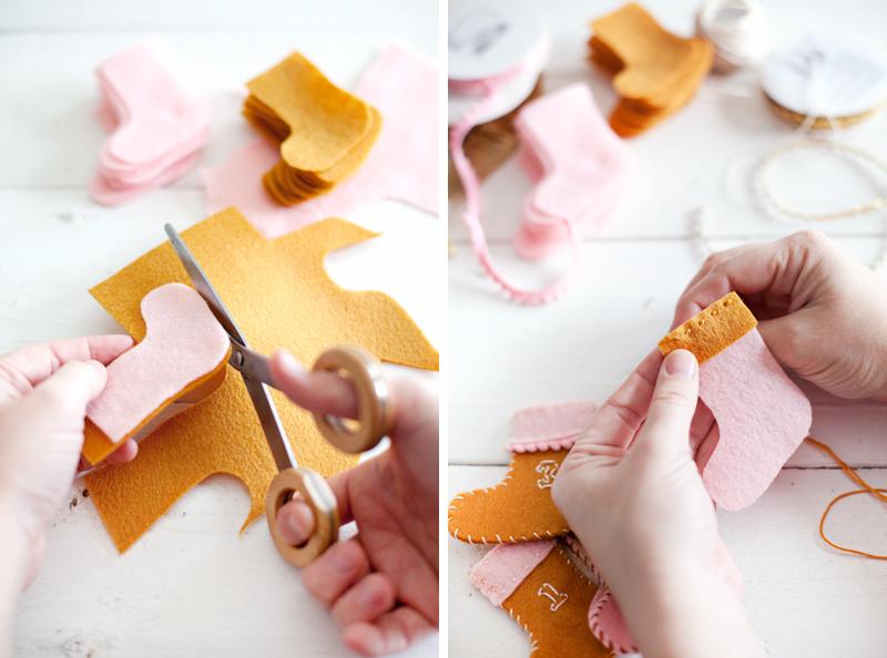 DIY Stocking Advent Calender Garland