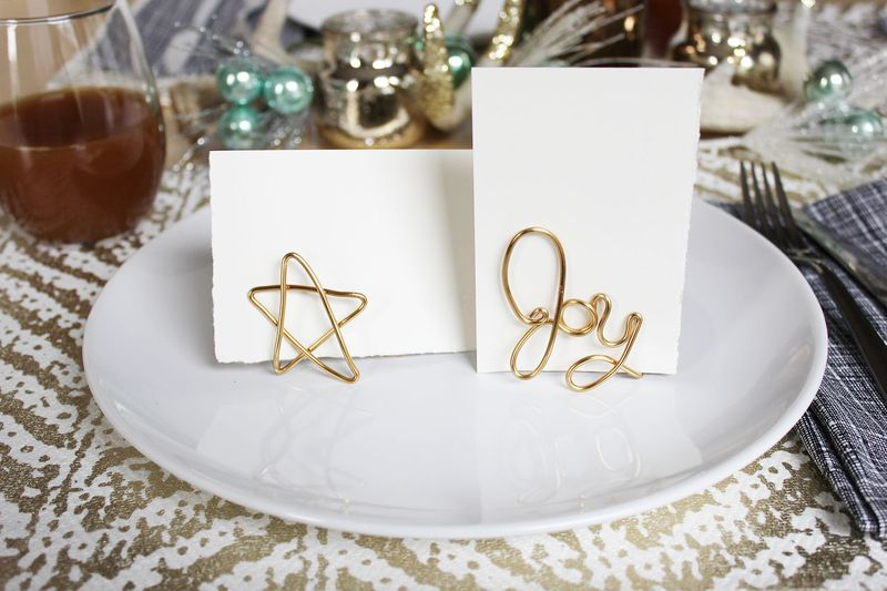 Easy Wire Place Card Holder DIY - A Beautiful Mess