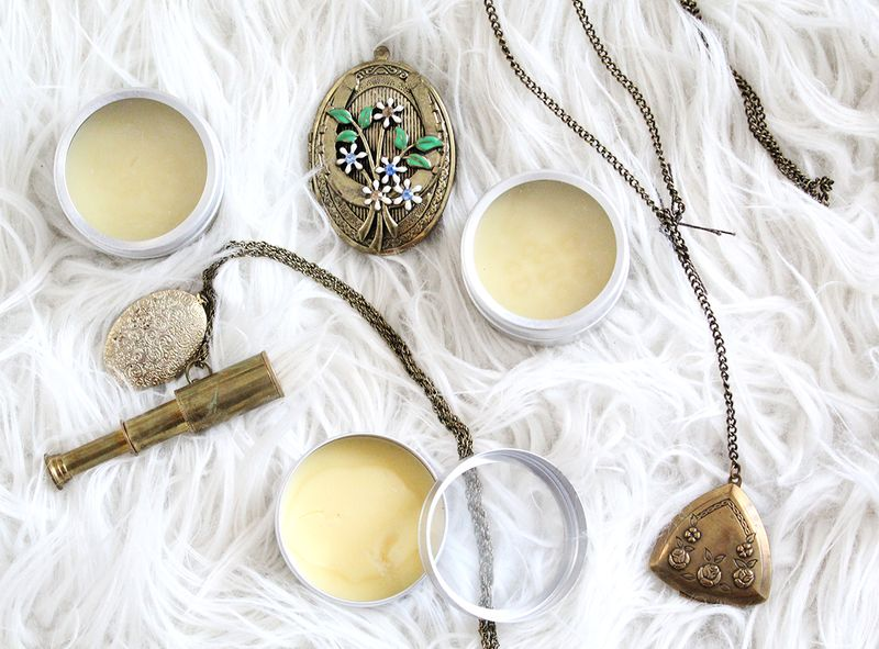 Make Your Own Solid Perfume (click through for tutorial)