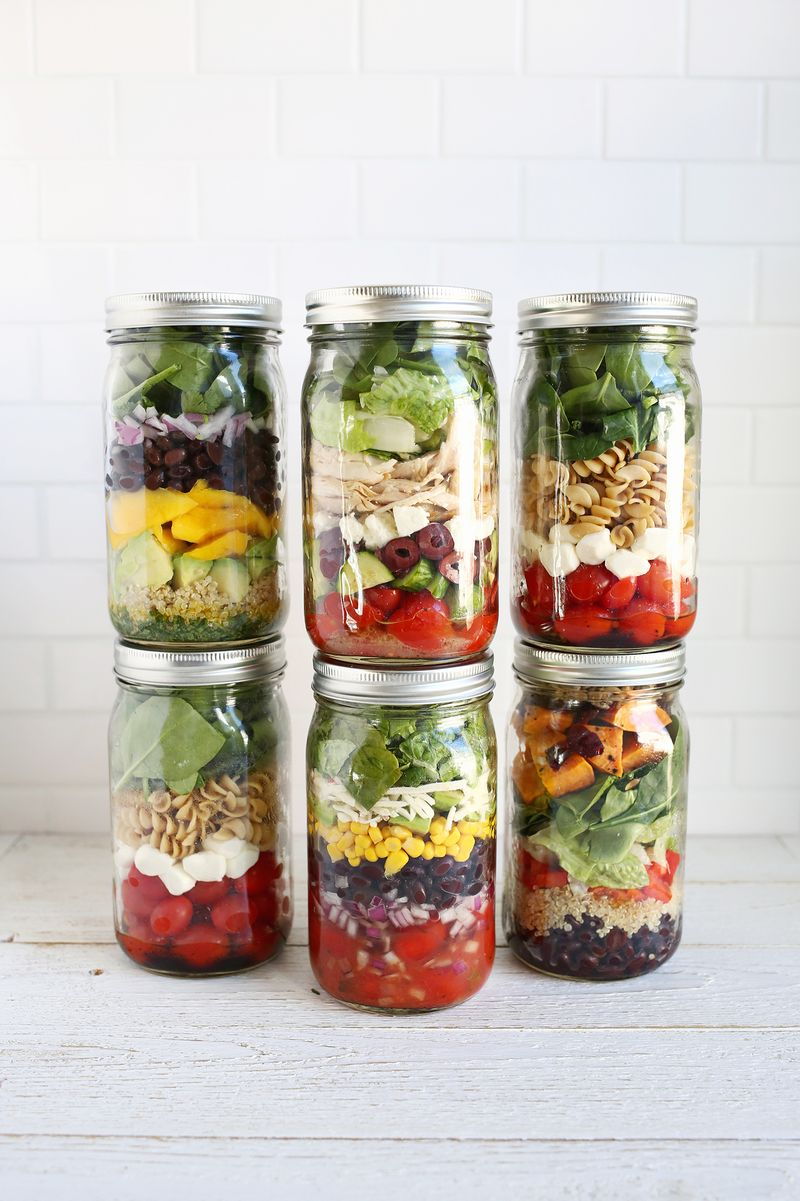 Make Lunches Easy This Year With Salads In Jars A