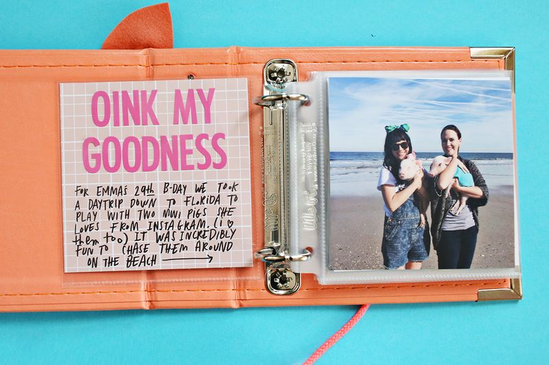 Oink my goodness! It's a piggy scrapbook! Click through for supply list