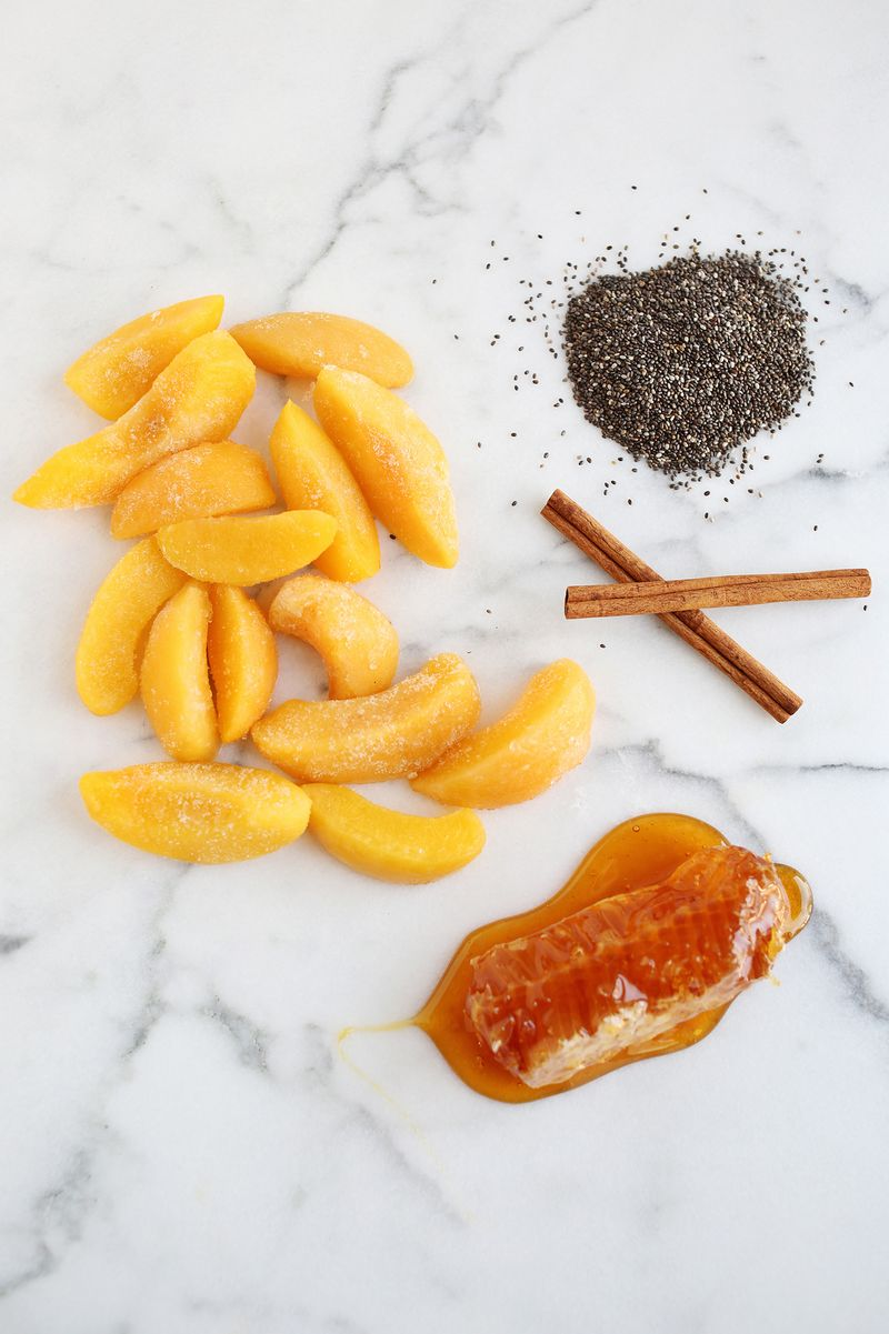 Cinnamon peach chia seed jam