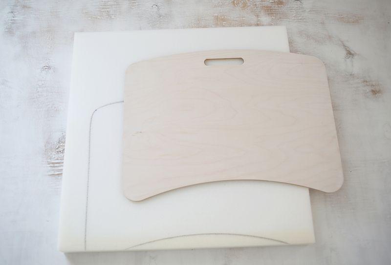 Cut the foam to fit the board