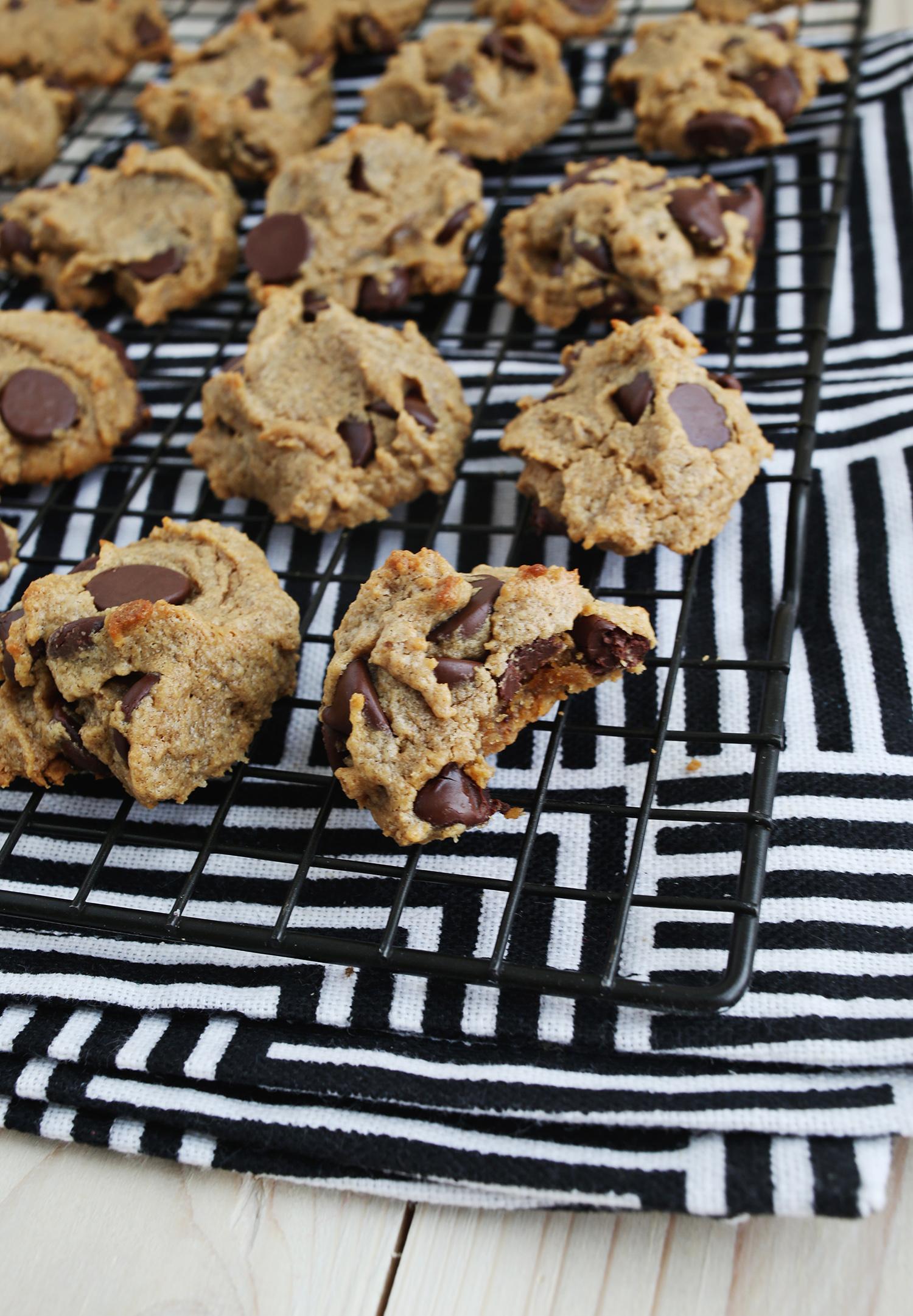 Flourless Chocolate Chip Cookies - A Beautiful Mess