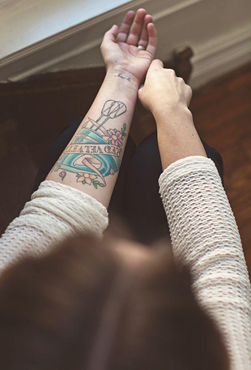Egg beater tattoo