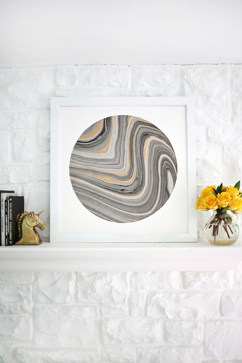 Try This Mat Marbled Paper For Easy Wall Art A Beautiful Mess
