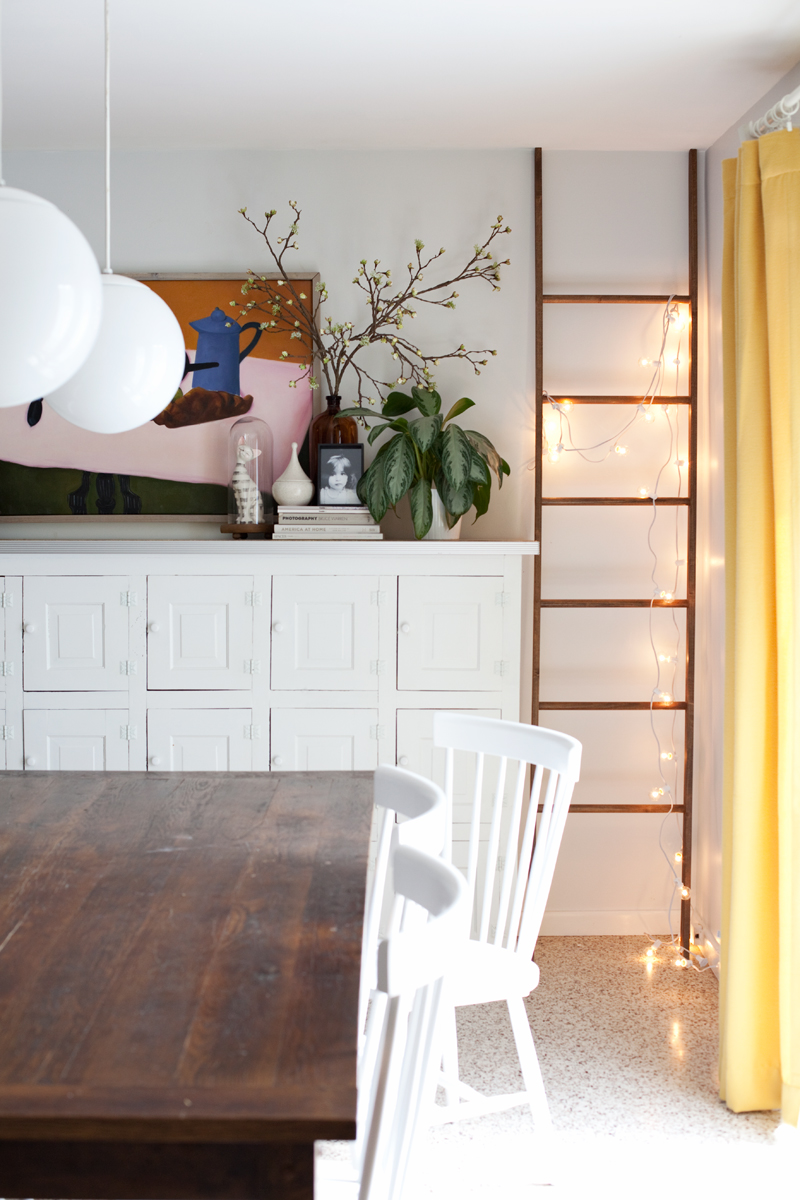 5 Ways to Style a Leaning Ladder - A Beautiful Mess