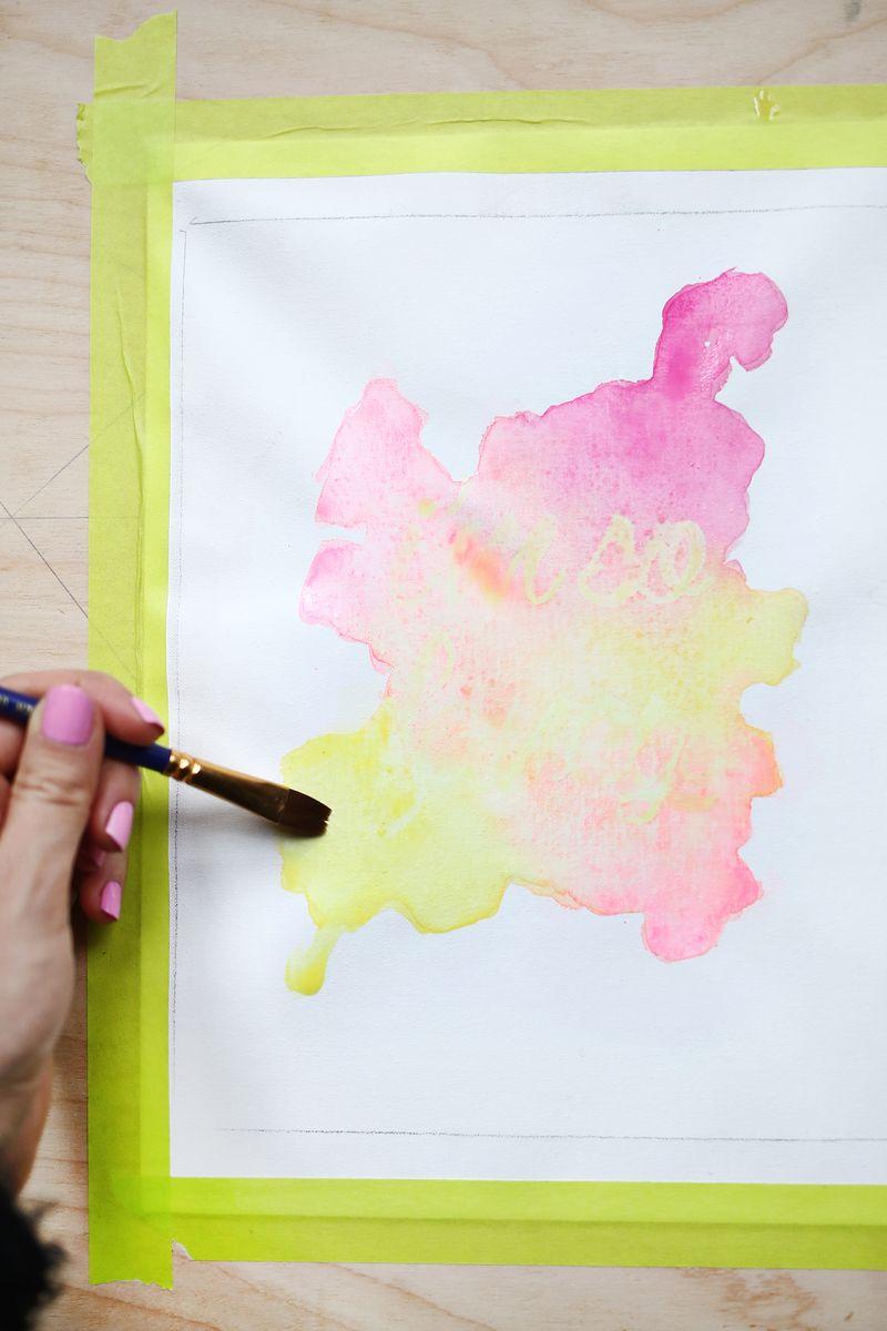 Watercolor Wall Art watercolor phrase art diy – a beautiful mess