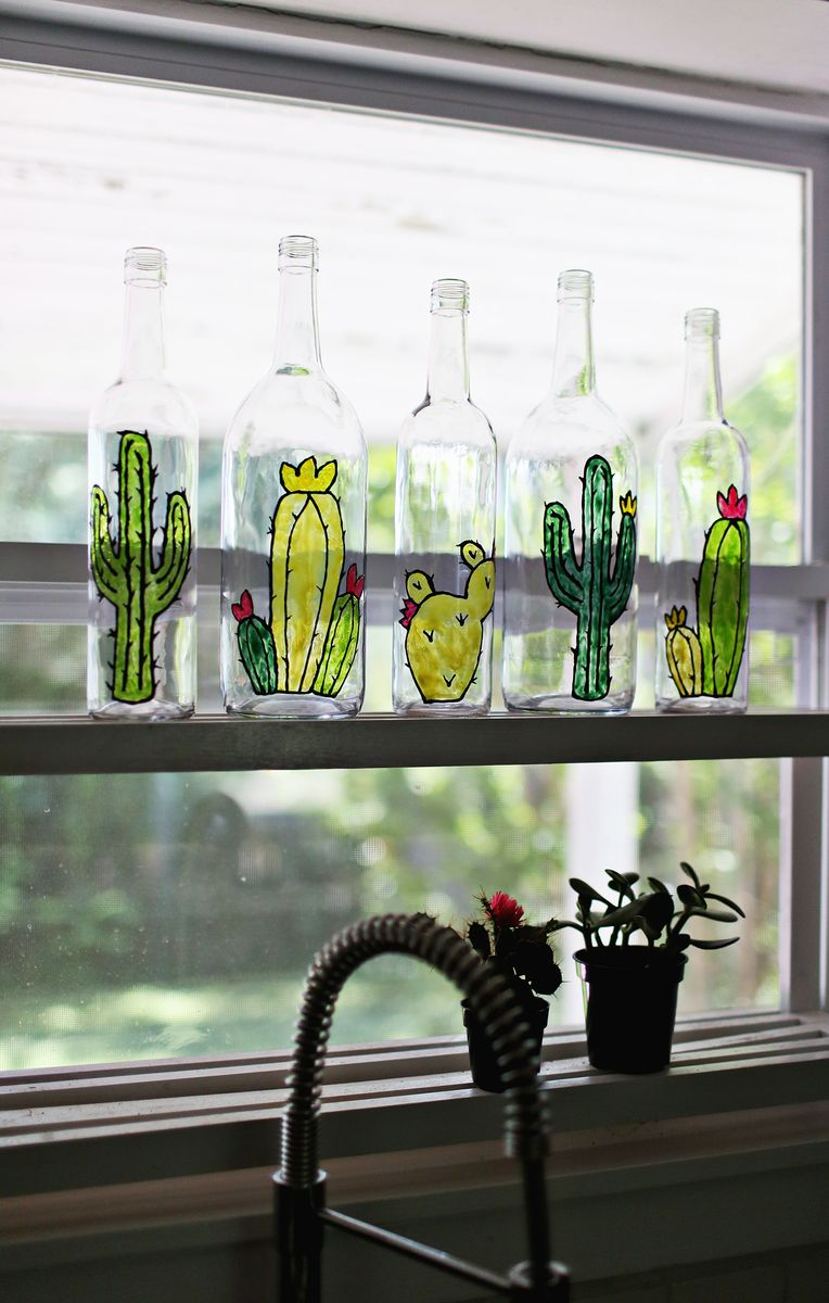Diy Faux Stained Glass Bottles A Beautiful Mess