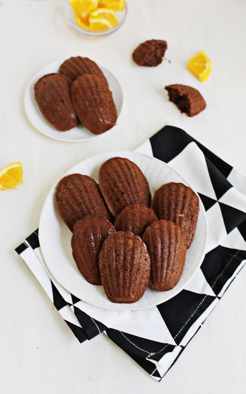 Chocolate Orange Madeleine Cookies (via abeautifulmess.com)