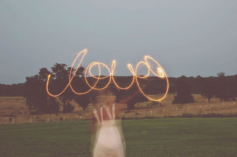 How to spell words with sparklers