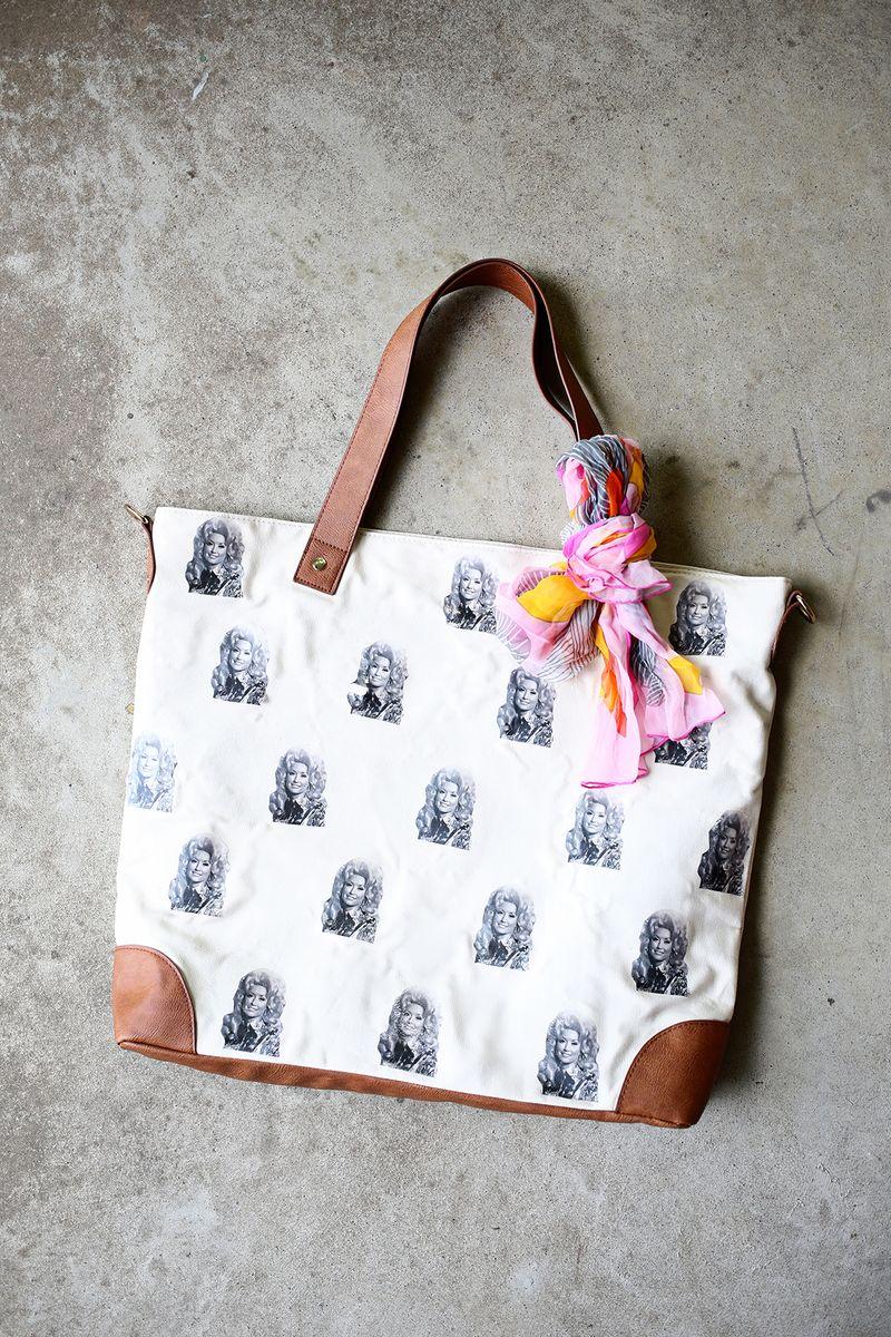 Dolly Parton bag DIY!