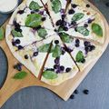 My Current Favorite Pizza: Blueberries and Spinach With Creamy White Sauce - August 10, 2015