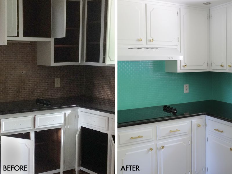 how to paint a tile backsplash a beautiful mess painted tile backsplash cover those ugly tiles make do