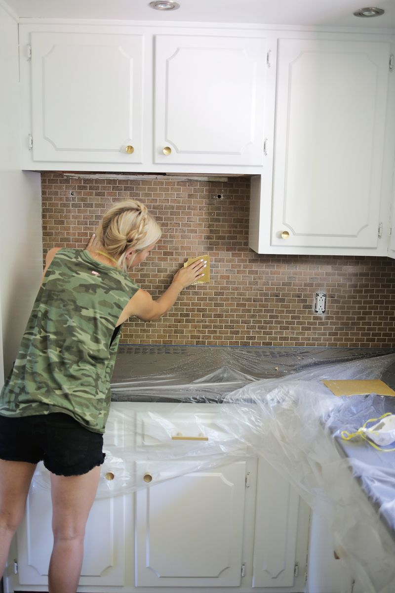 how to paint a tile backsplash a beautiful mess