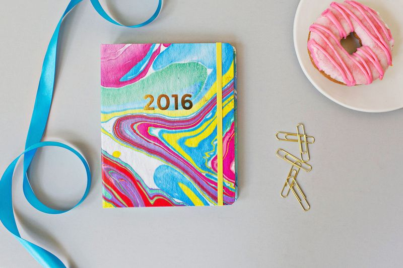 A Beautiful Mess 2016 Planner MARBLED