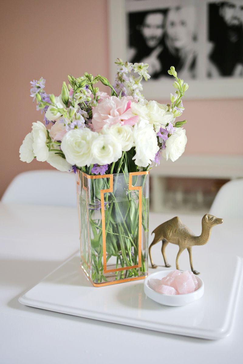 Copper tape vase DIY