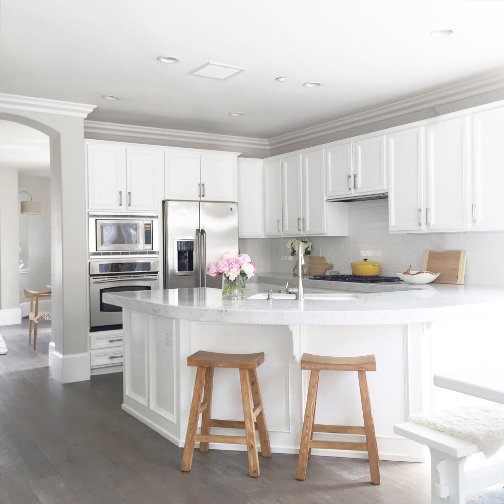 Remodeled Kitchens With White Cabinets: At Home With Becki Owens In San Clemente, California