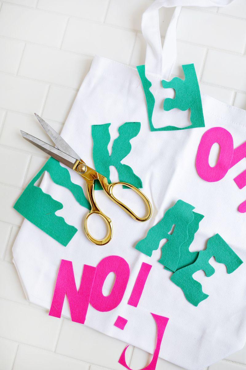 Love this! %22Oh Kale No!%22 shopping bag DIY (click through for tutorial)