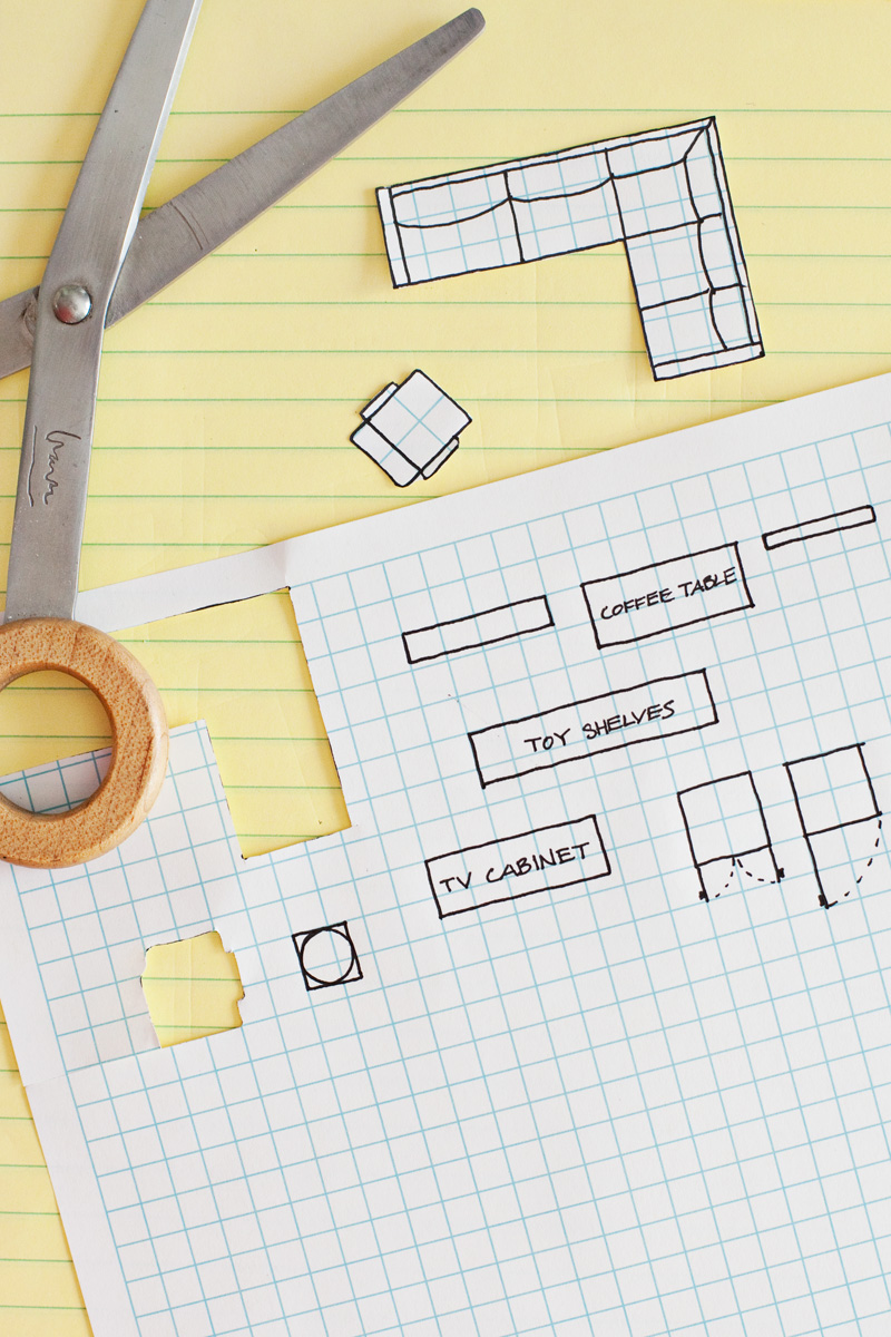 How to draw a floor plan a beautiful mess for Draw kitchen floor plan