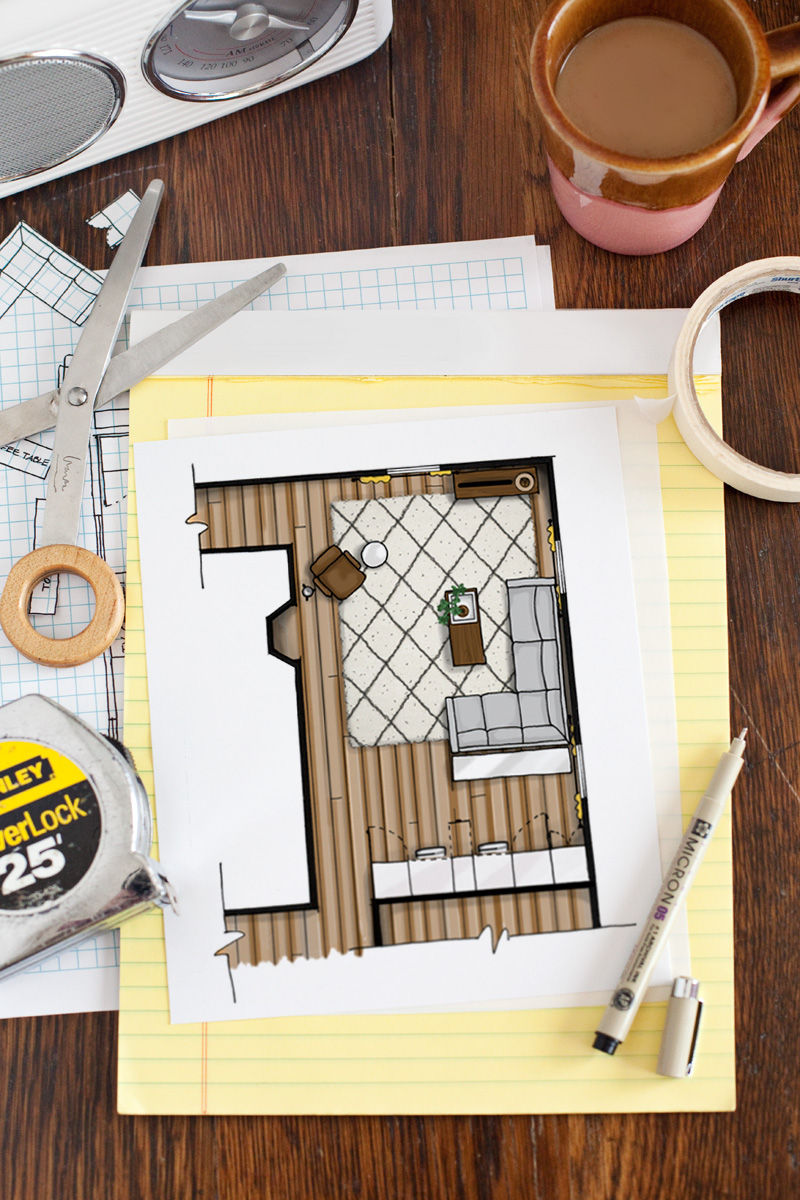 How to draw a floor plan a beautiful mess for Room planning website
