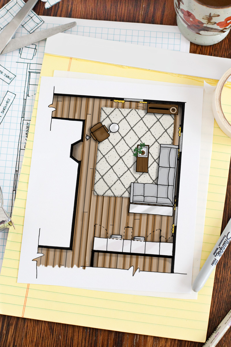 how to draw a house plan on the computer