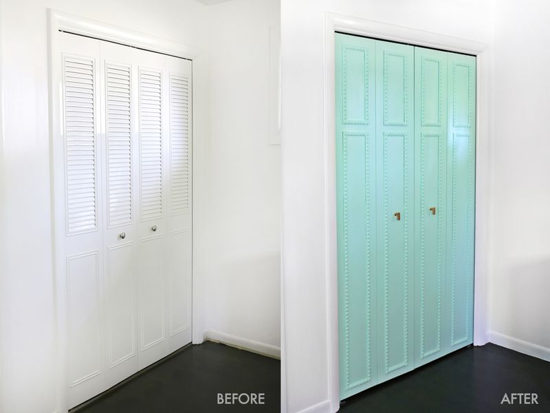 Customize your closet doors with trim-so pretty! (click through for tutorial) ... & Customize Your Closet Doors With Trim! - A Beautiful Mess