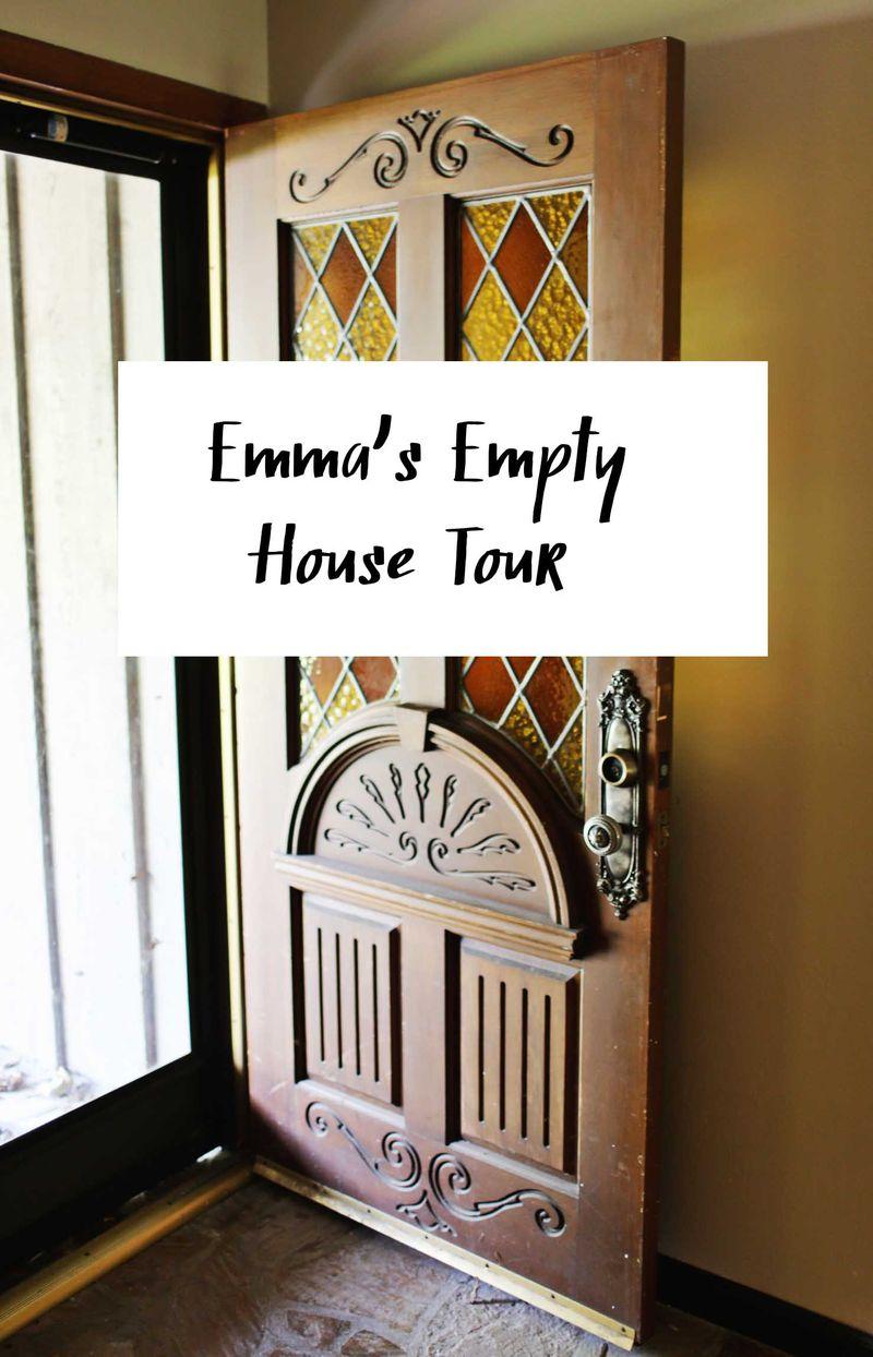 Emma's empty house tour