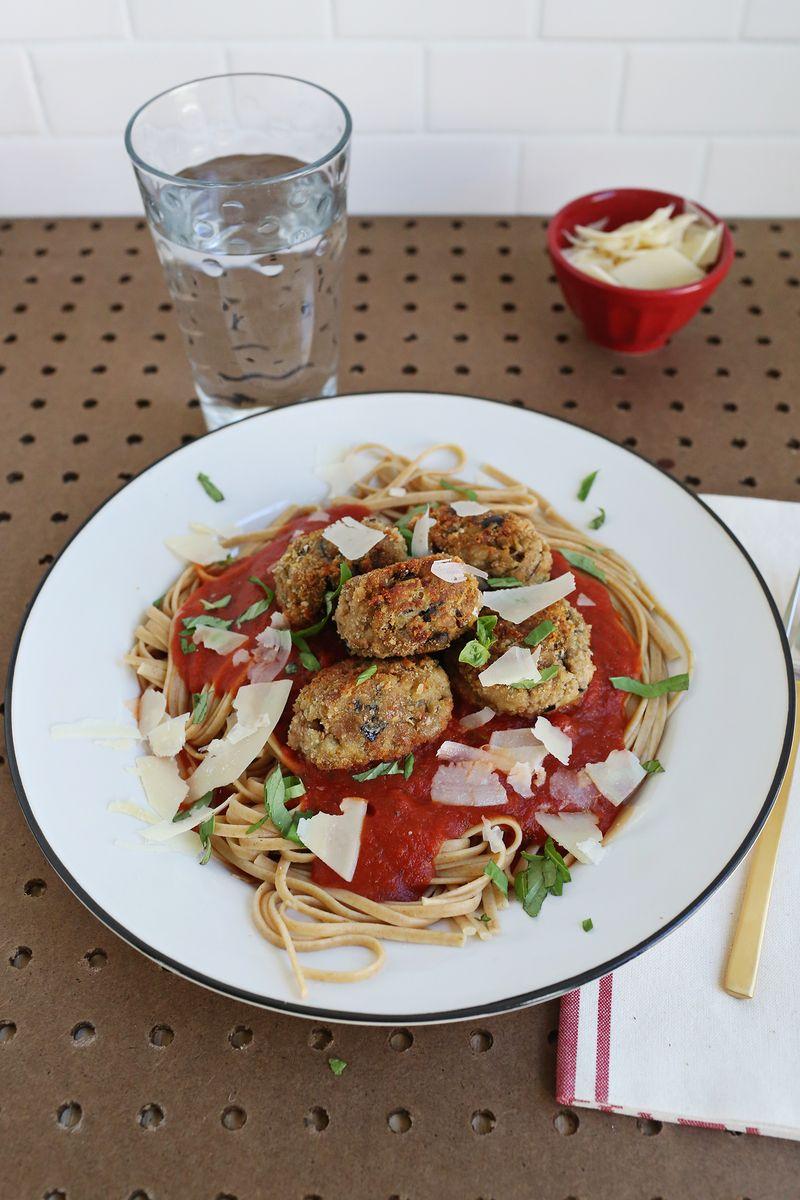 Eggplant Parm Meatballs (via abeautifulmess.com)