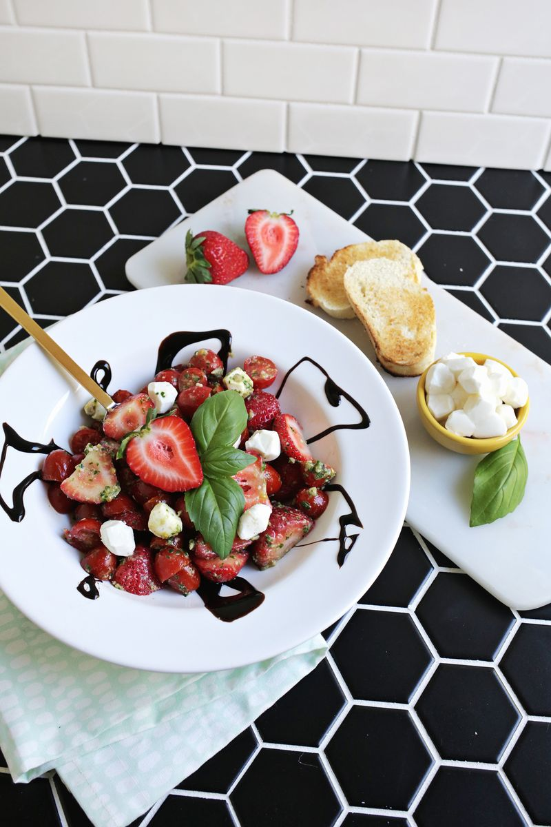 Strawberry caprese salad! (click through for recipe)