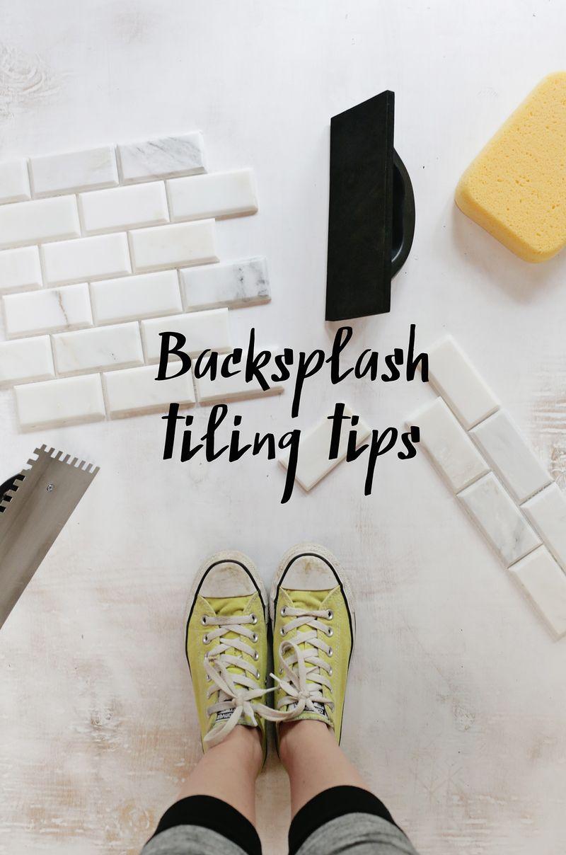Backsplash tiling tips