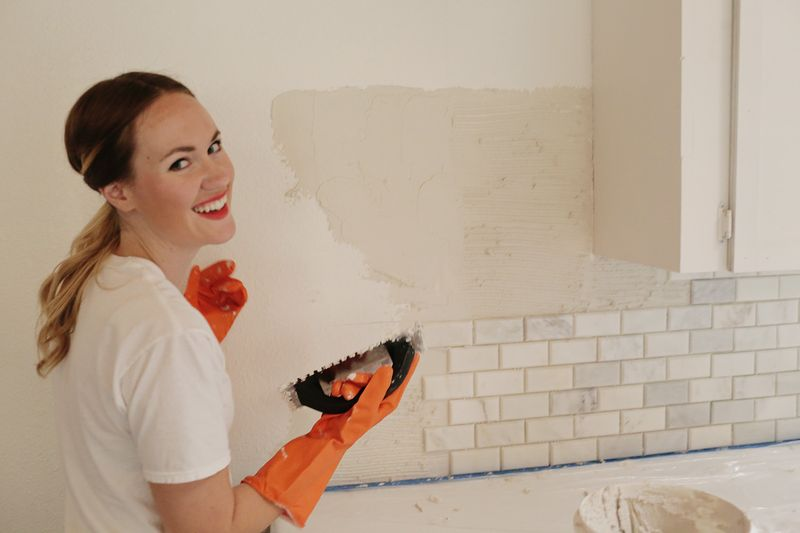 Laying tile yourself