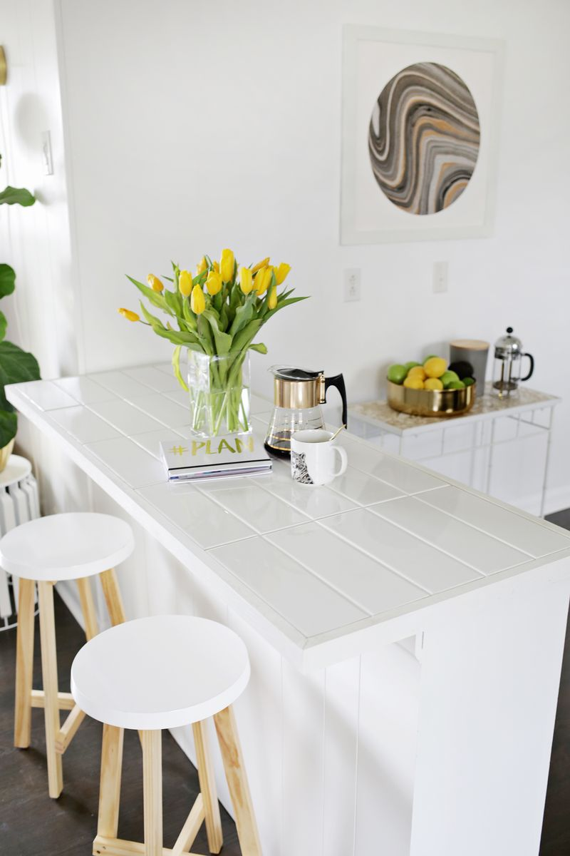 Tiled Countertop DIY (No Saw Required!)