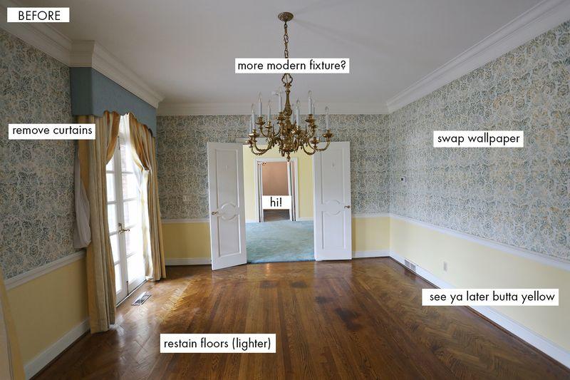 Elsie's Dining Room Before