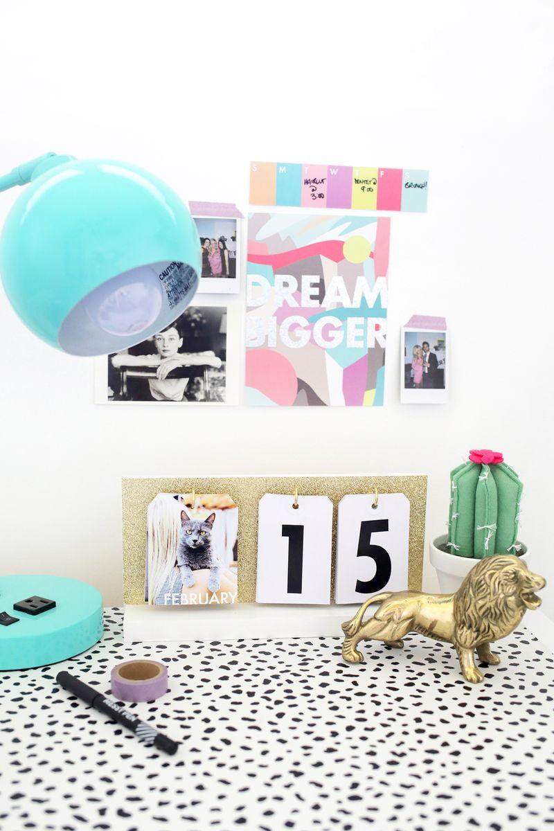 Cute Diy Calendar : Perpetual flip calendar diy a beautiful mess