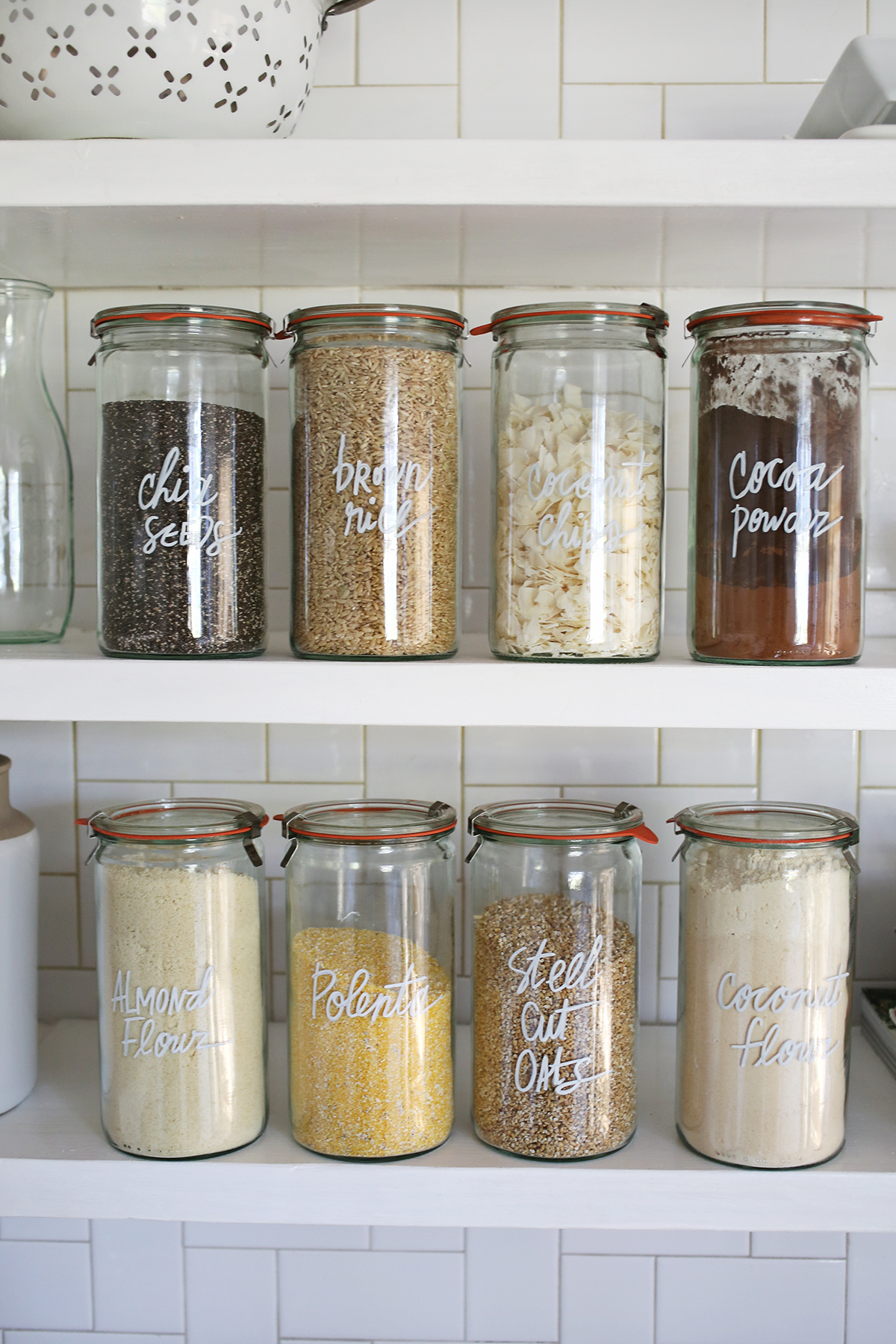Try This! Paint Pen Kitchen Organization via A Beautiful Mess