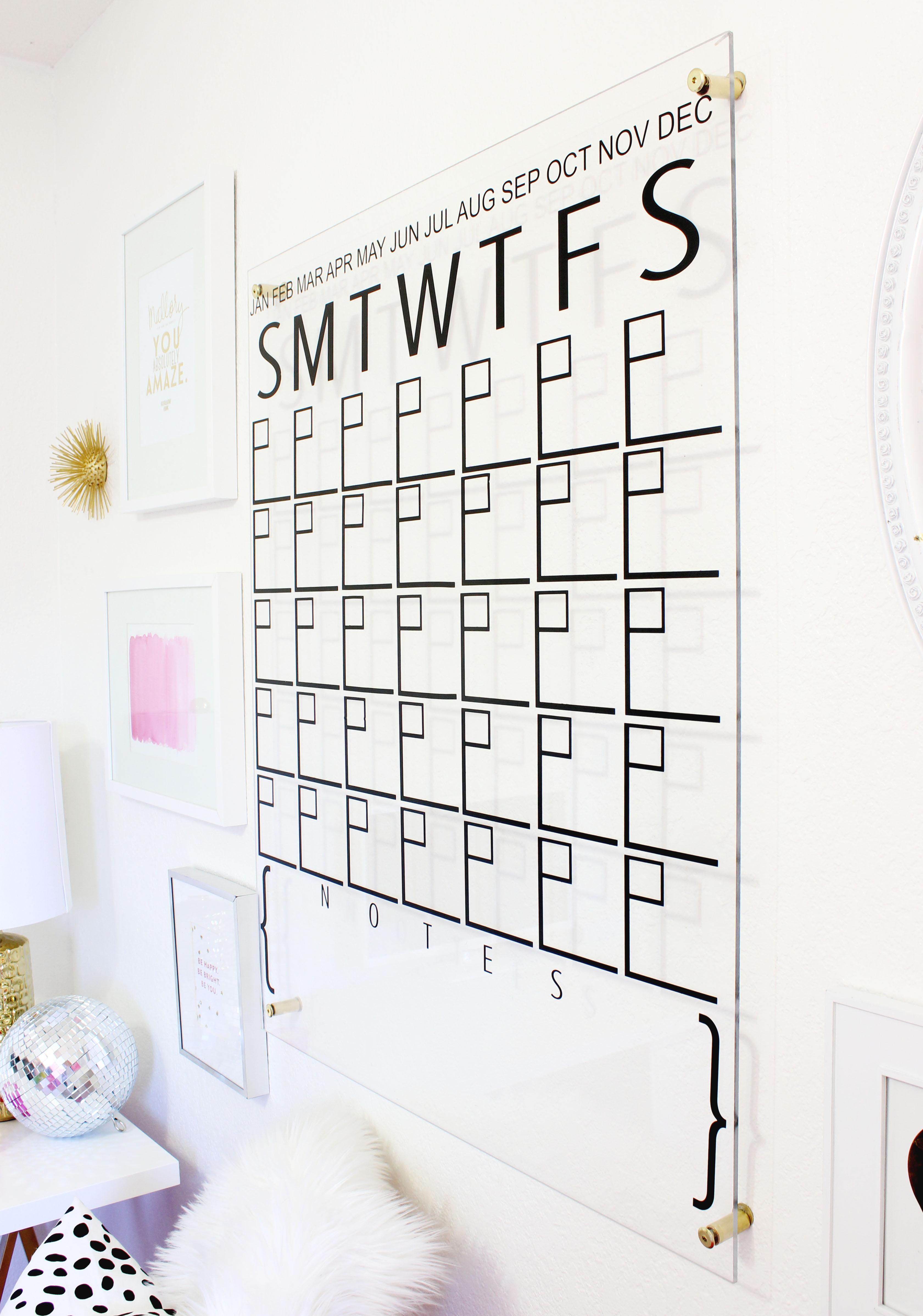 Diy Calendar Laurdiy : Diy acrylic calendar a beautiful mess