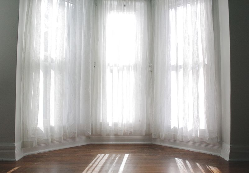 Curtains before lengthening