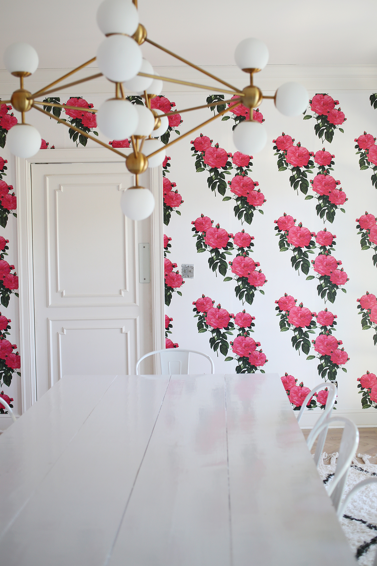 Dining Room Wallpaper via A Beautiful Mess