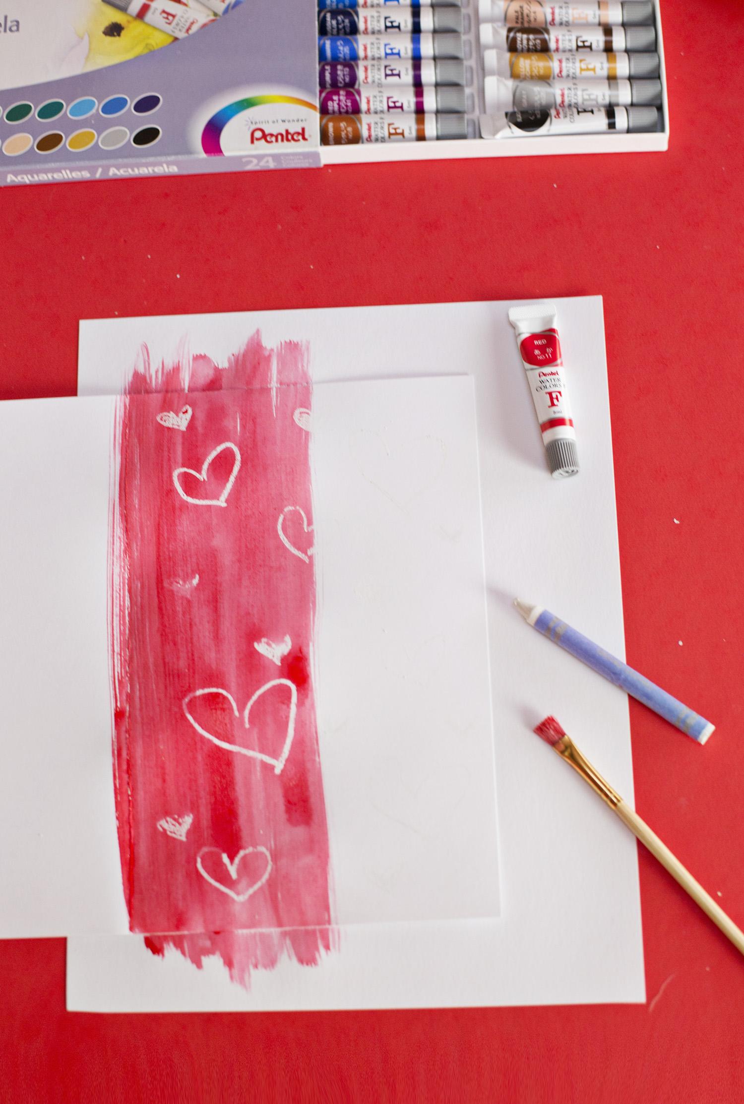 Crayon resist technique