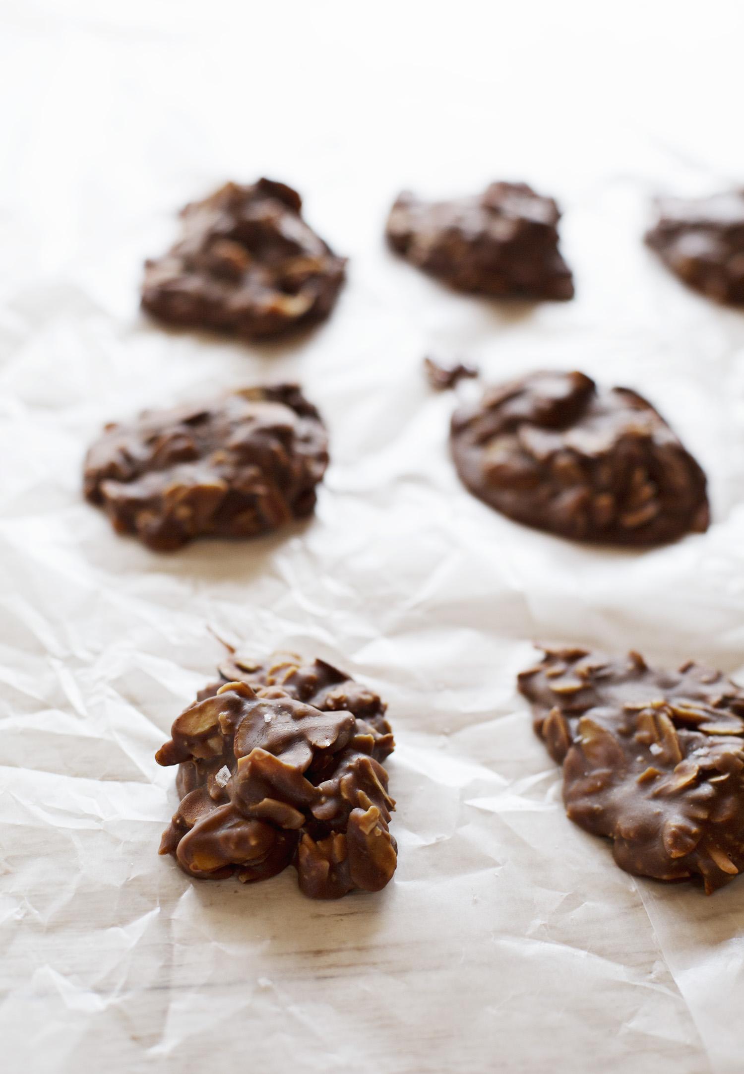 Chocolate No Grain No Bake Cookies (via abeautifulmess.com)