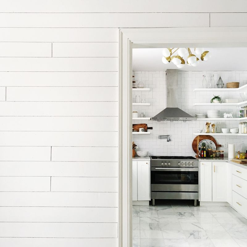 Shiplap wall DIYs- click though for links to some great tutorials!
