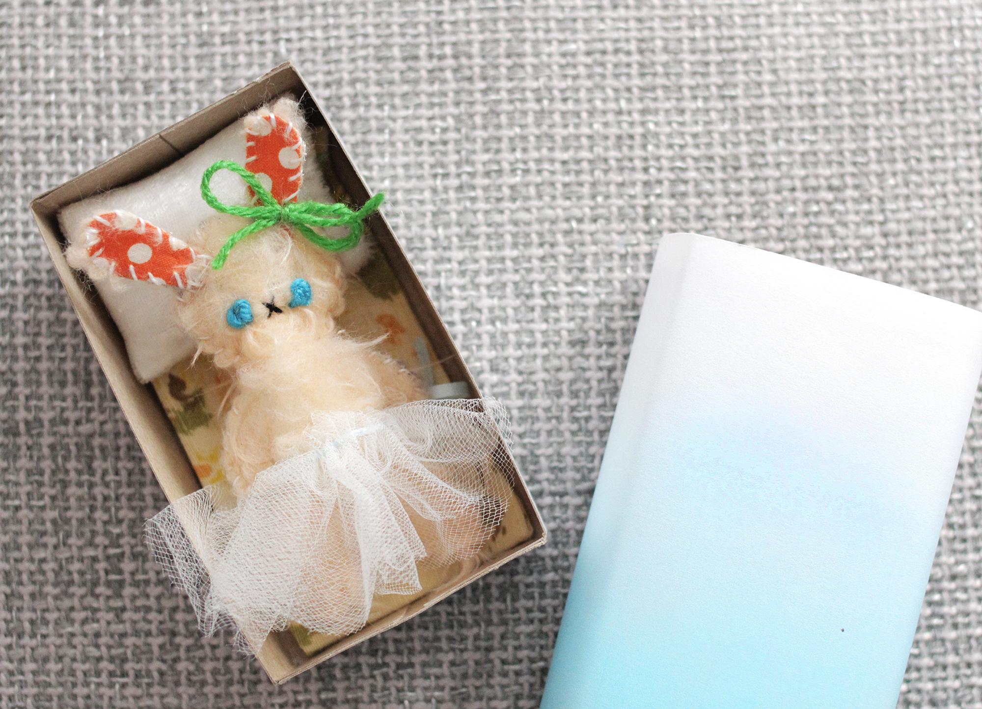 Darling little matchbox bunny