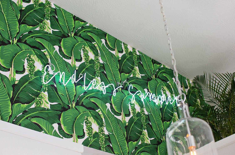 The Golden Girl Rum Club wallpaper and neon